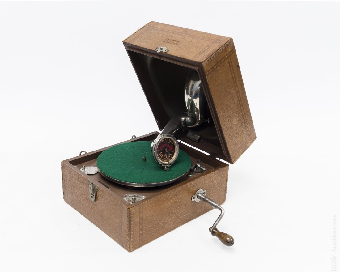 Decca Portable Gramophone, Junior Model.