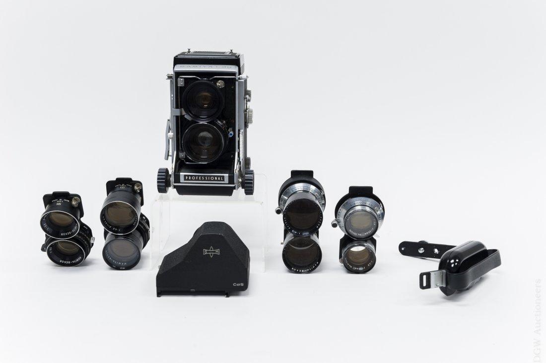 Mamiya C33 Camera with 5 Lenses.