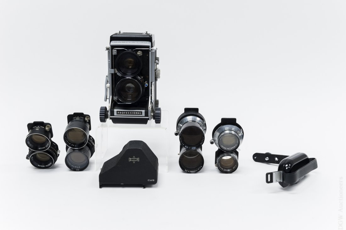 Mamiya C33 Camera with 5 Lenses.