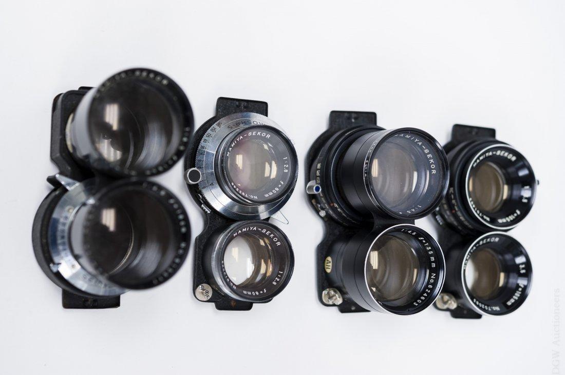 Mamiya C33 Camera with 5 Lenses. - 6