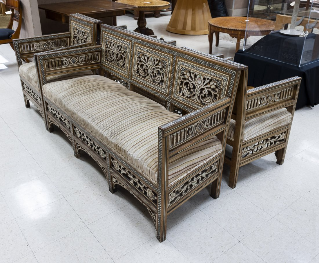Syrian Five Piece Parlor Suite.