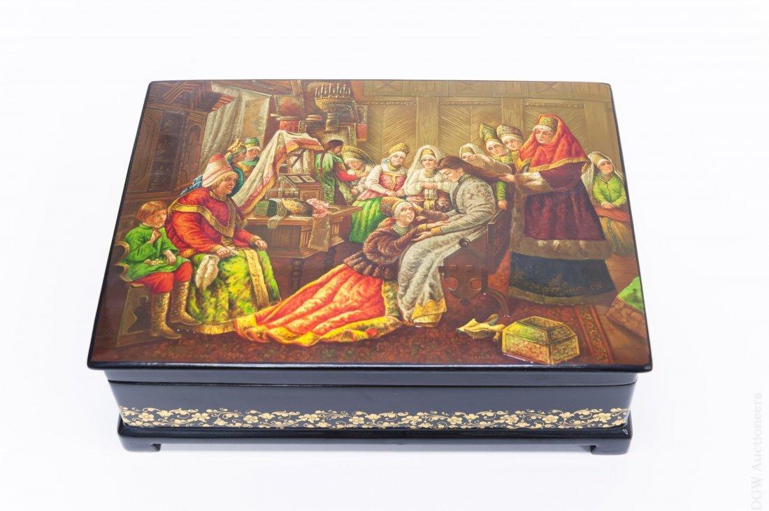 Nalimov Fedoskino Russian Lacquer Box.