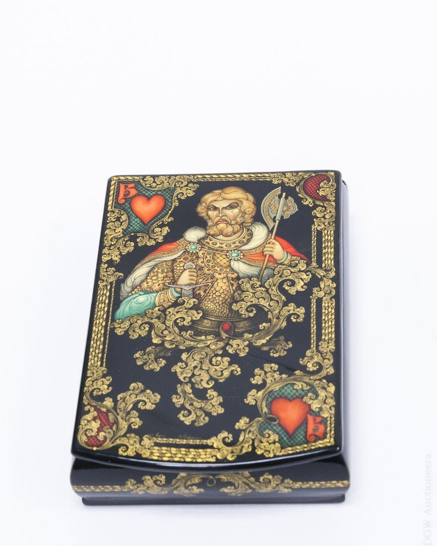 Devjatkin Kholui Russian Lacquer Box.