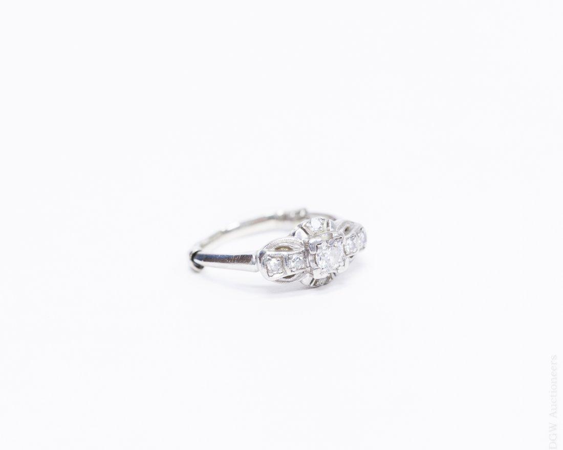 Lady's Vintage Platinum and Diamond Ring.