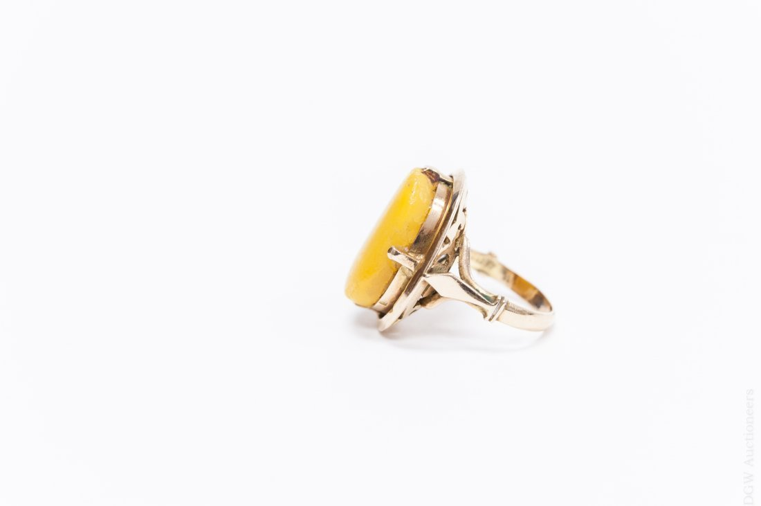 Egyptian Gold and Amber Ring. - 3