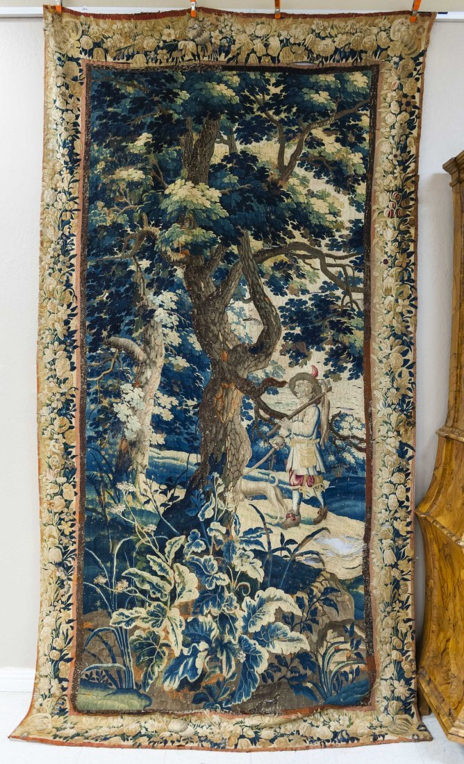 Flemish Baroque Tapestry Panel.