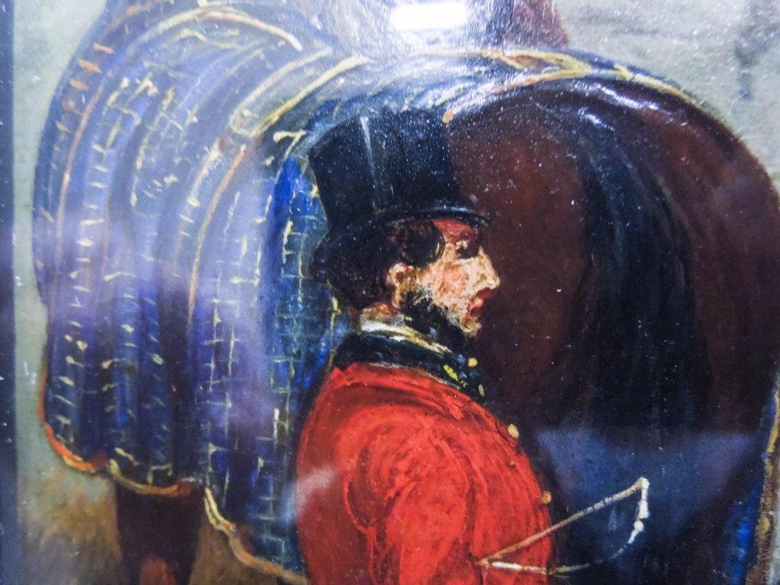 Henry Alken Oil on Board. - 6