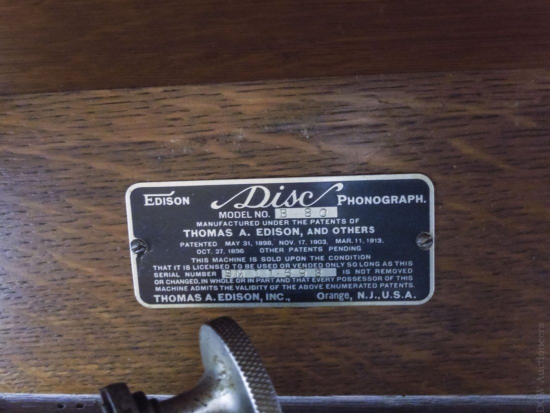 Edison Disc Phonograph Model B80. - 2