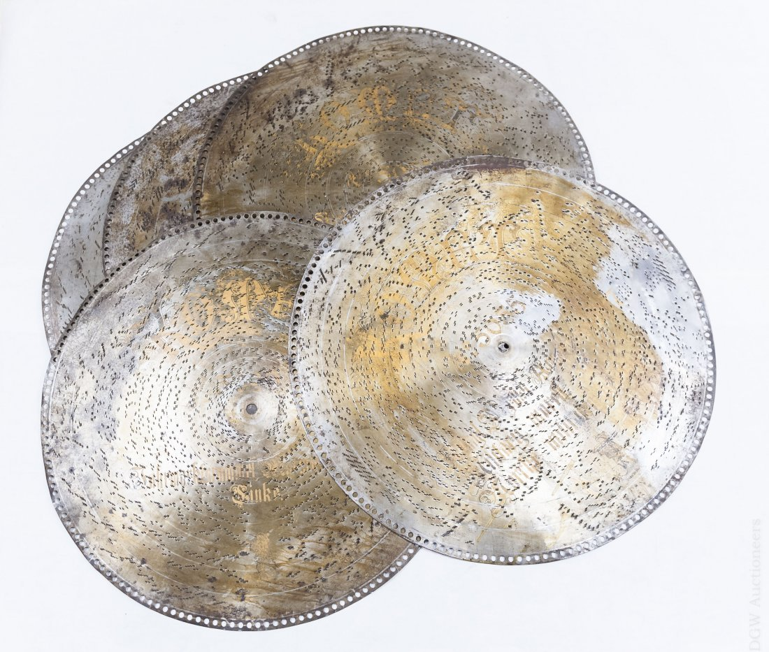 (5) Komet Metal Music Discs.