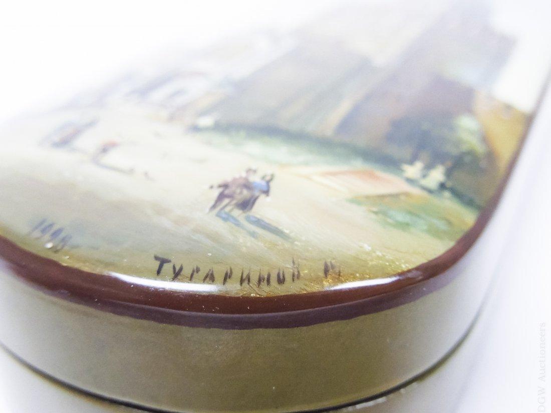 "Tugarinova ""Spasskaya Tower"" Russian Lacquer Box. - 7"