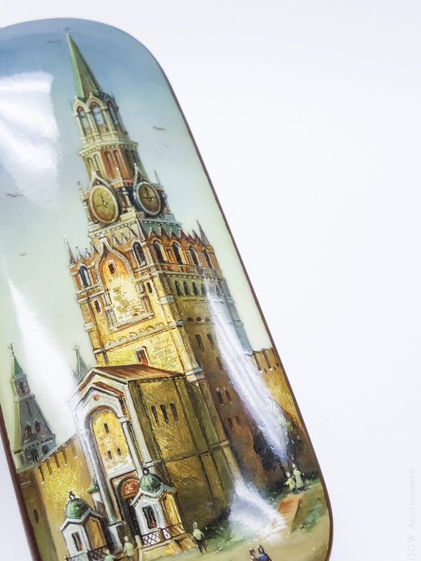 "Tugarinova ""Spasskaya Tower"" Russian Lacquer Box. - 8"