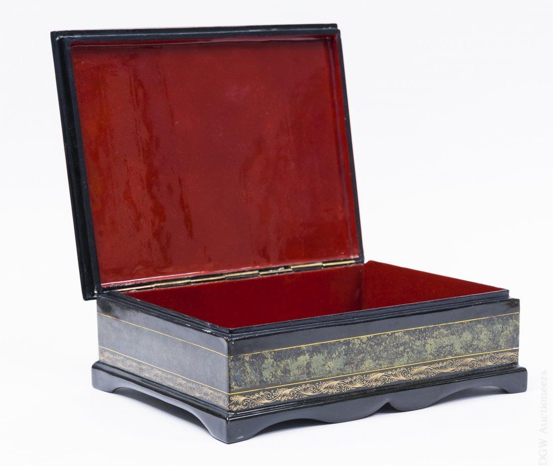 Borisov Fedoskino Russian Lacquer Box. - 4