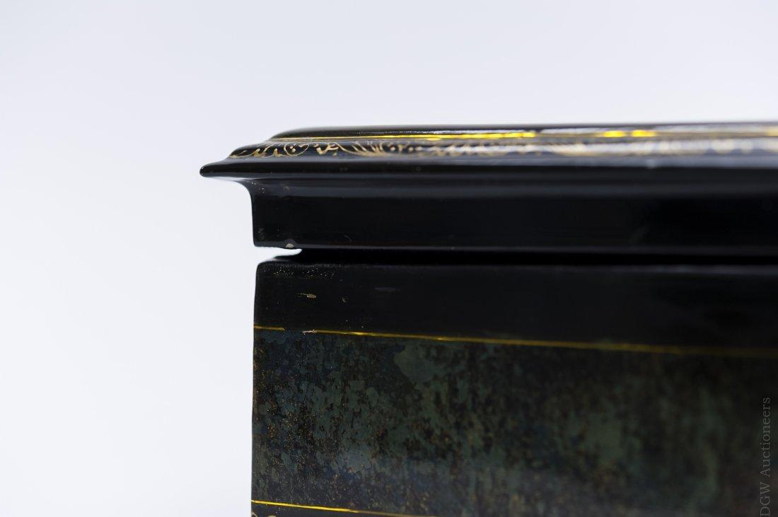 Borisov Fedoskino Russian Lacquer Box. - 7