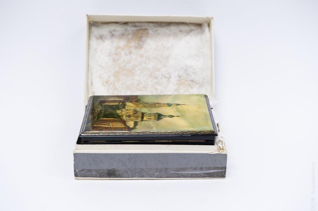 Borisov Fedoskino Russian Lacquer Box. - 8