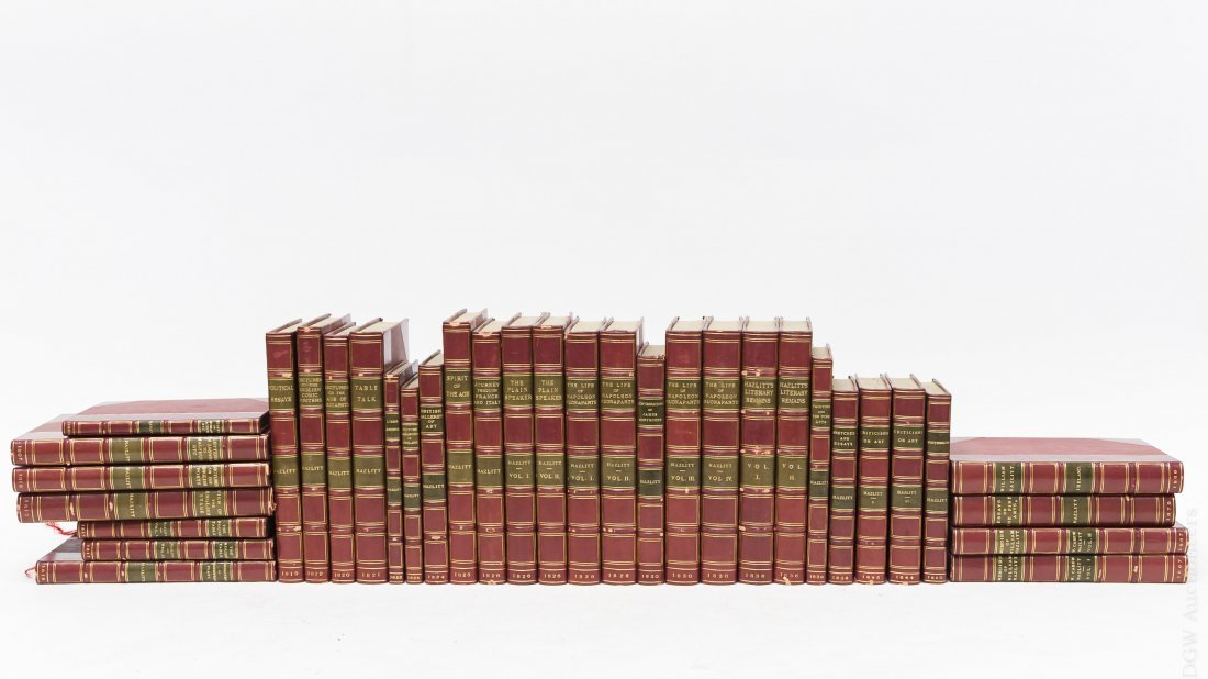 (34) Volumes, Haziltt's Works, 19th C.