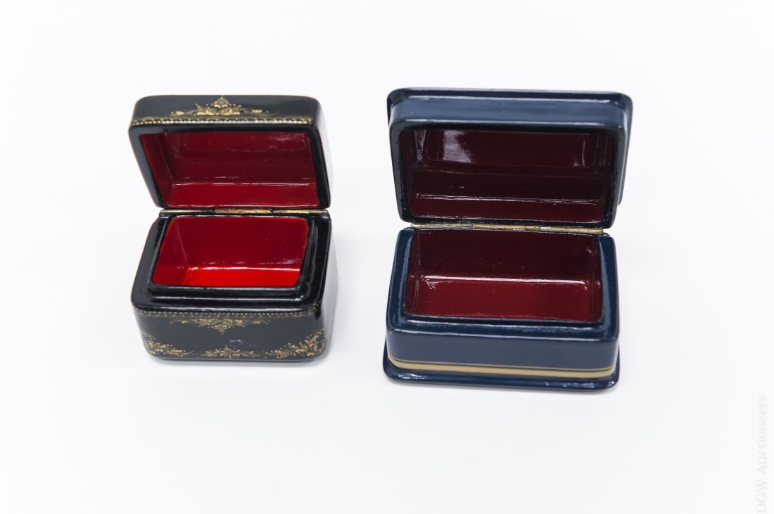 (2) Fedoskino Russian Lacquer Boxes. - 3
