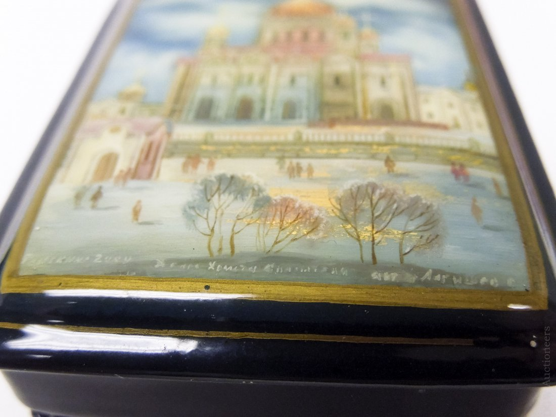 (2) Fedoskino Russian Lacquer Boxes. - 5