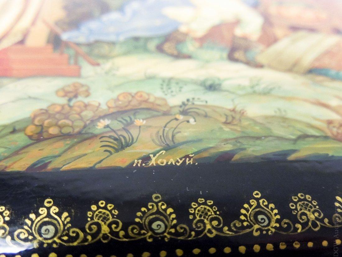 Kholui Russian Lacquer Box. - 7