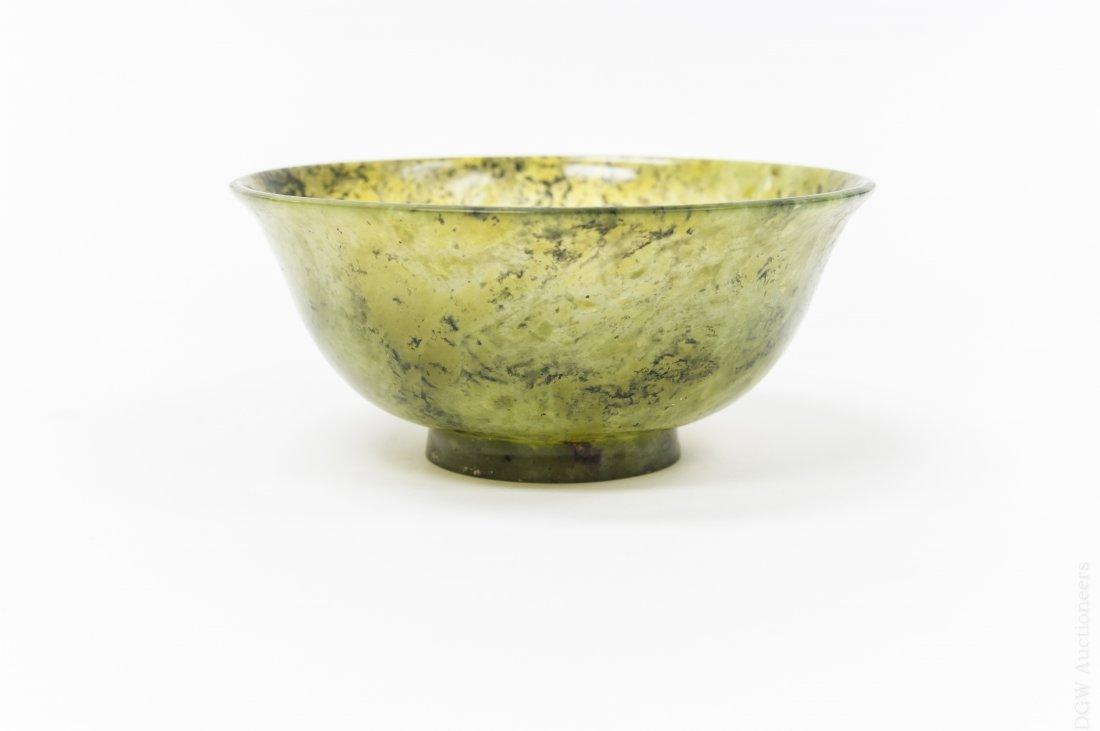 Chinese Spinach Jade Bowl. - 3