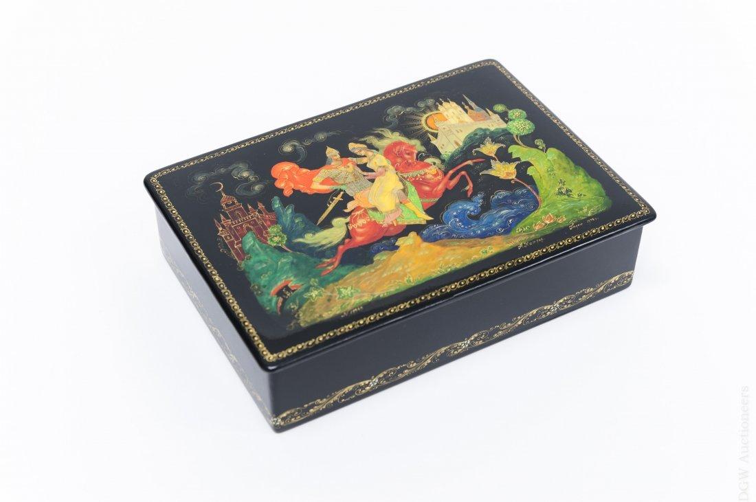 Palekh Russian Lacquer Box, 1978.