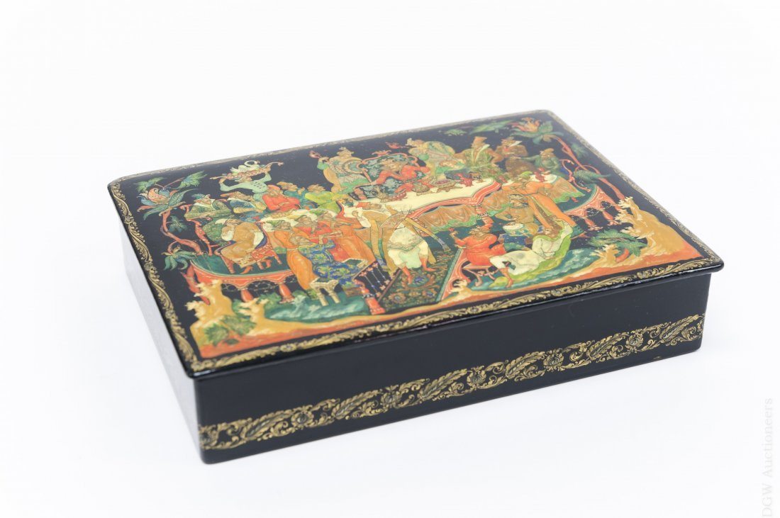 Lebedev Palekh Russian Lacquer Box.