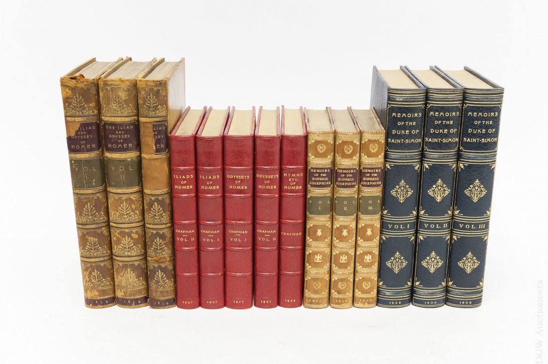 (14) Antiquarian Books, Leather and Cloth Boards.