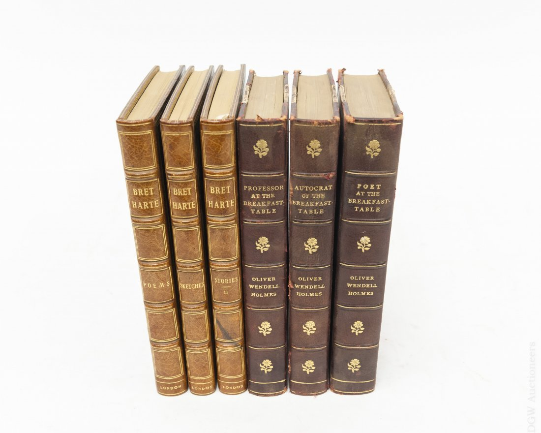 (6) Antiquarian Books, Leather and Cloth Boards.