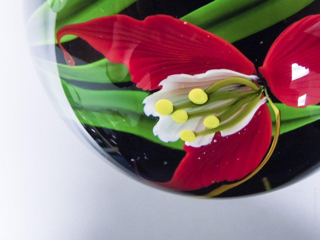 (4) Mayauel Ward Art Glass Paperweights. - 7