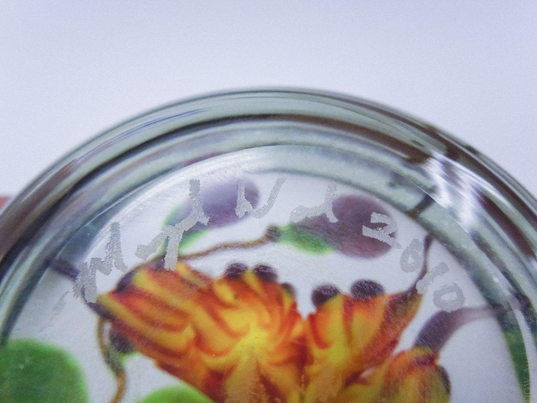 (4) Mayauel Ward Art Glass Paperweights. - 8