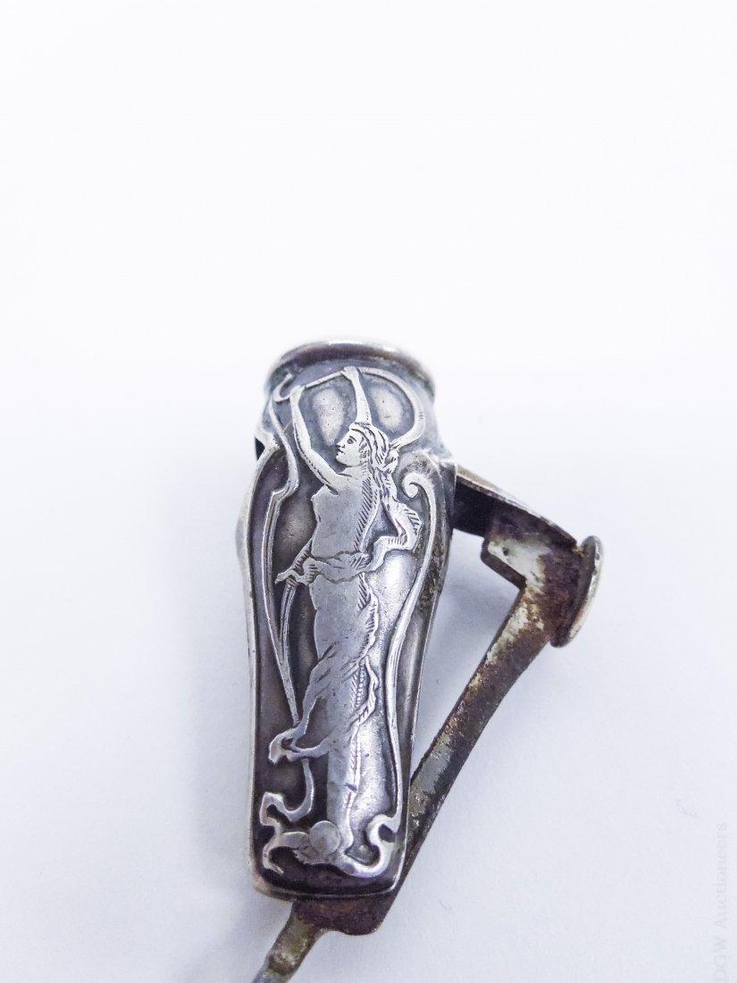 (10) Vintage Sterling Silver Cigar Cutters. - 5