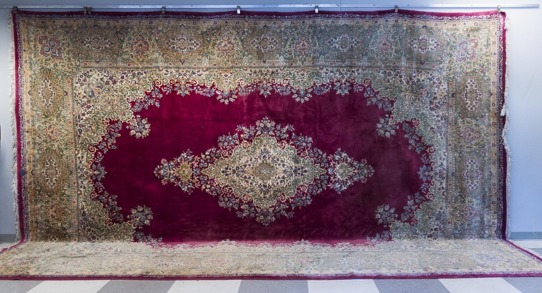 "Persian Palace Rug, Mid 20th C. 19'5"" x 12'6""."