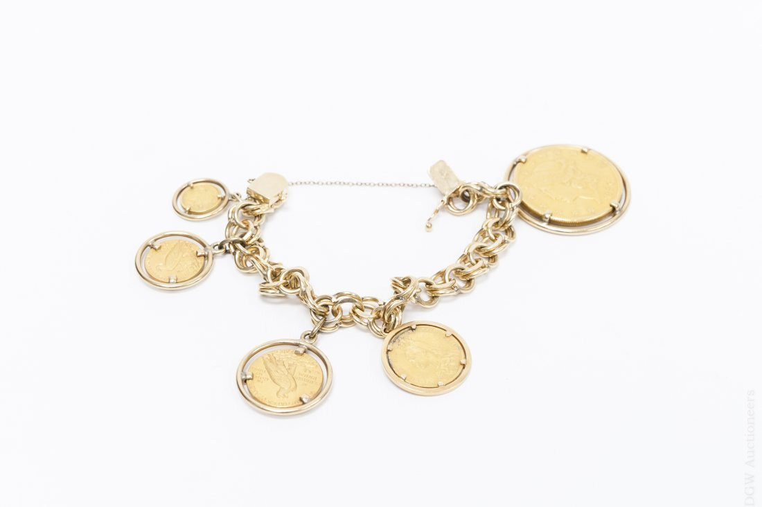 Charm Bracelet with Gold Coins.