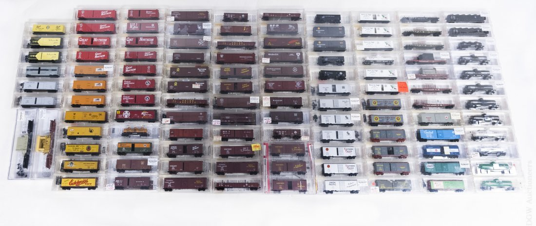 Collection of (114) Micro-Trains 'N' Scale Cars.