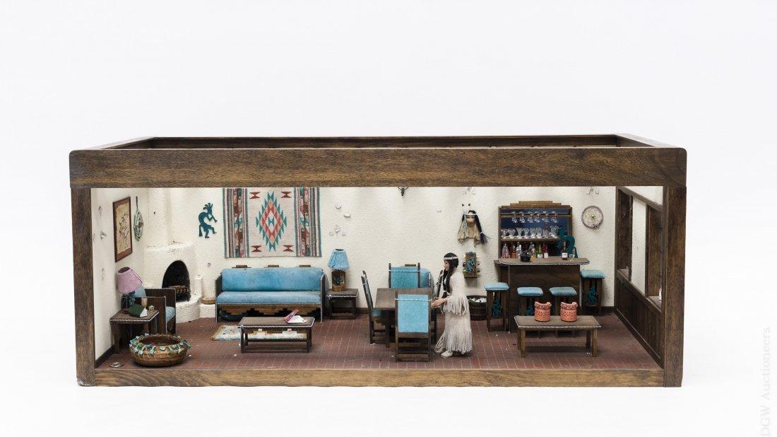 Southwestern Style Dollhouse Diorama.