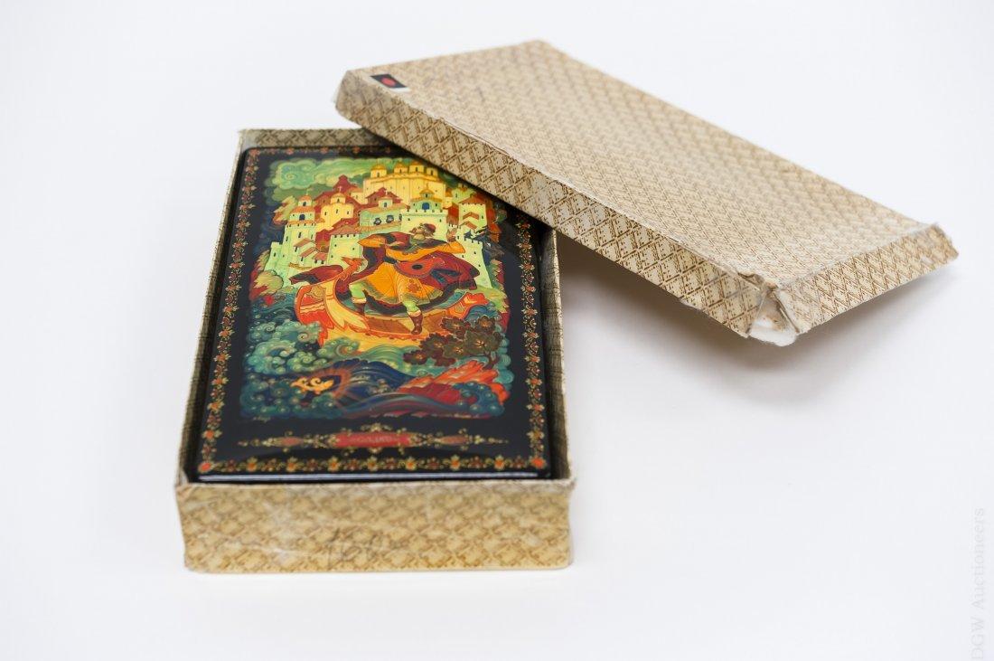 Kholui Russian Lacquer Box, signed. - 10