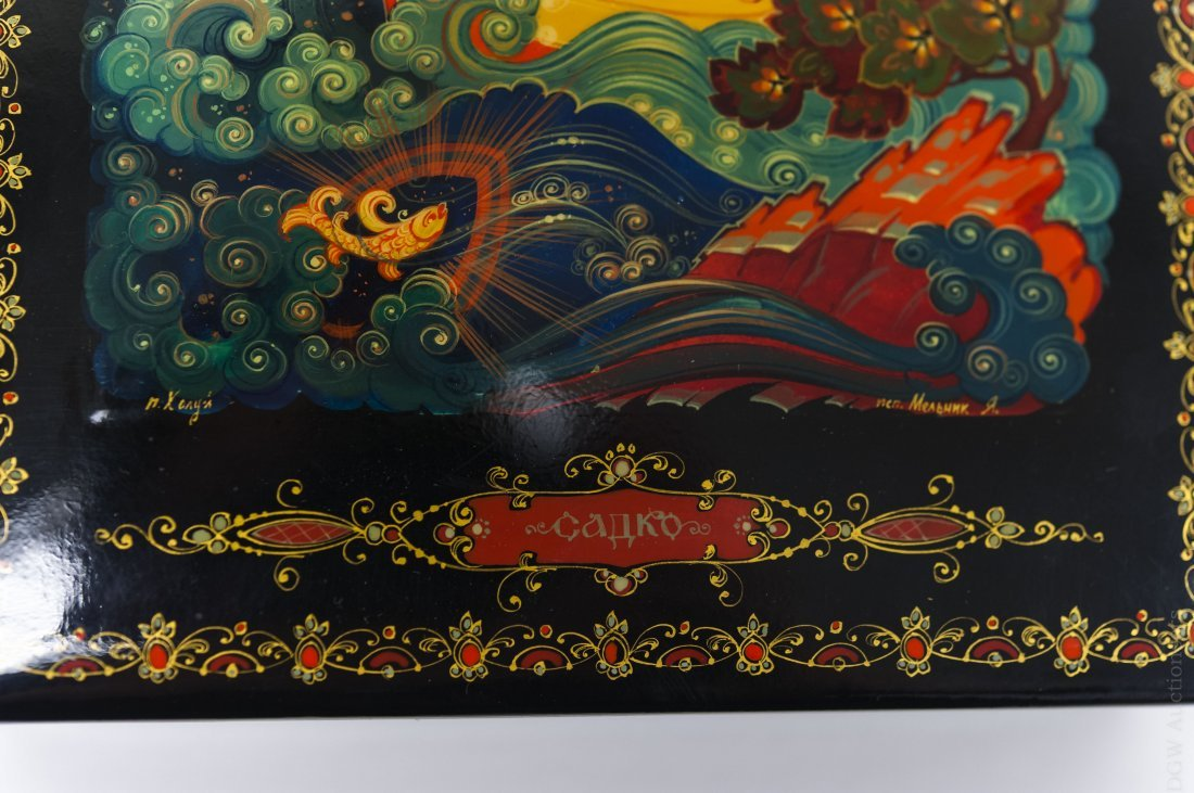 Kholui Russian Lacquer Box, signed. - 5