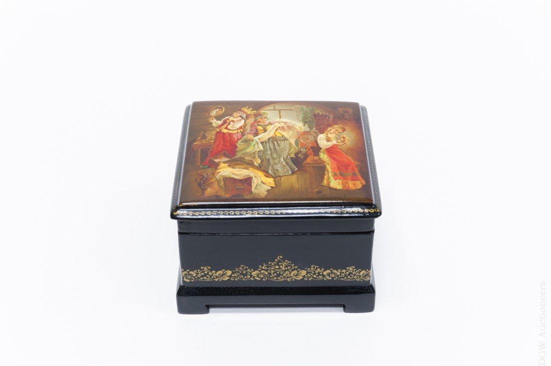 Fedoskino Russian Lacquer Box.