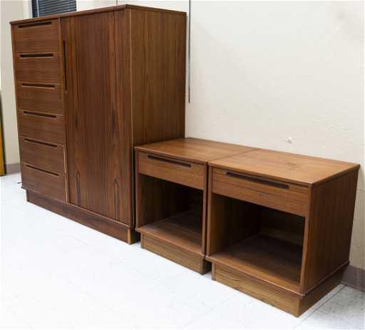 Torring Mobelfabrik Danish Teak Bedroom Set.