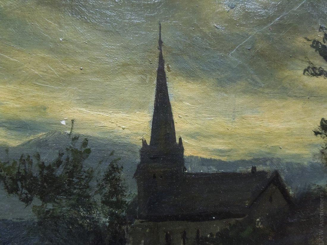Julian Rix Oil on Canvas. - 6