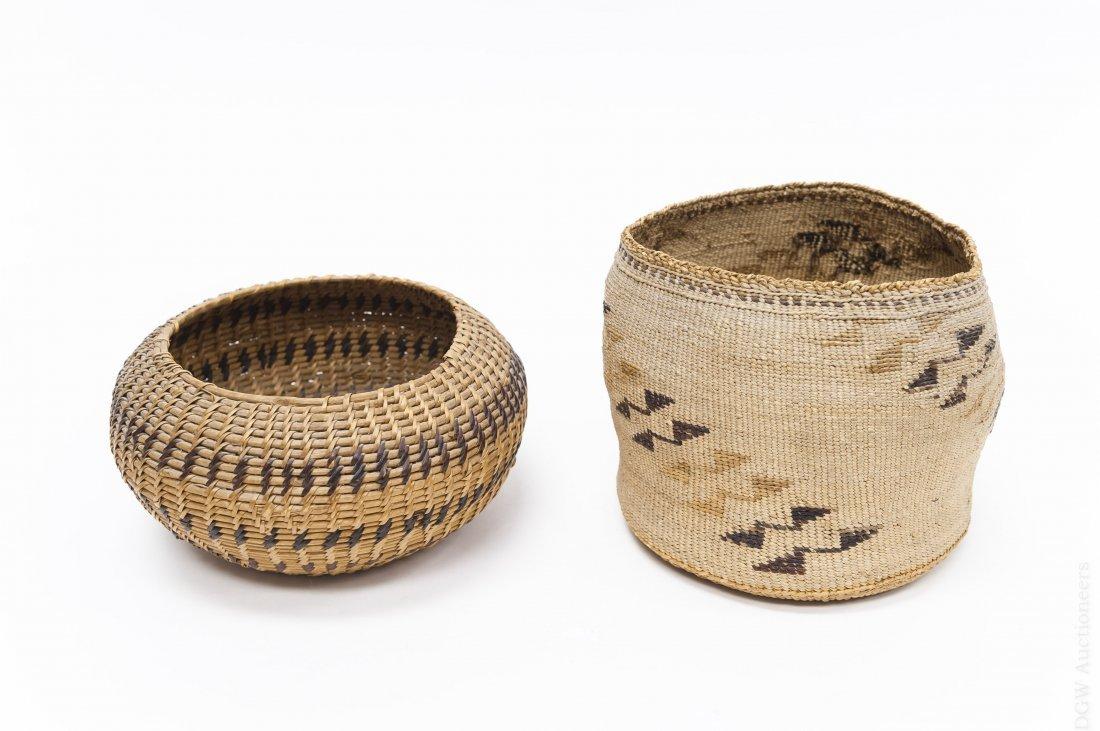 (2) Native American Hand Woven Baskets. - 2