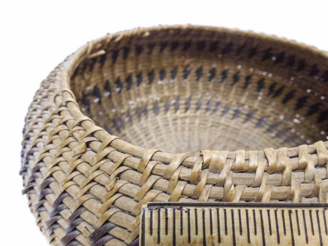 (2) Native American Hand Woven Baskets. - 4