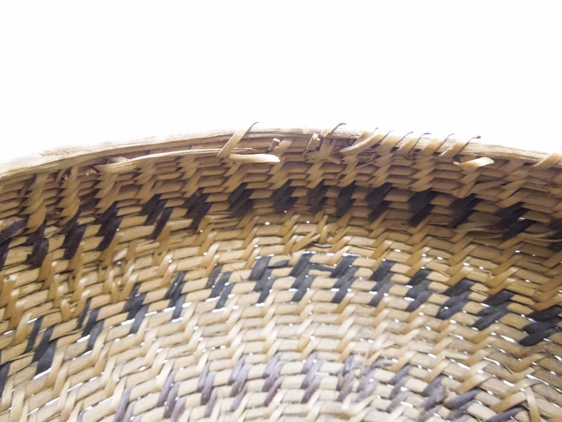 (2) Native American Hand Woven Baskets. - 5