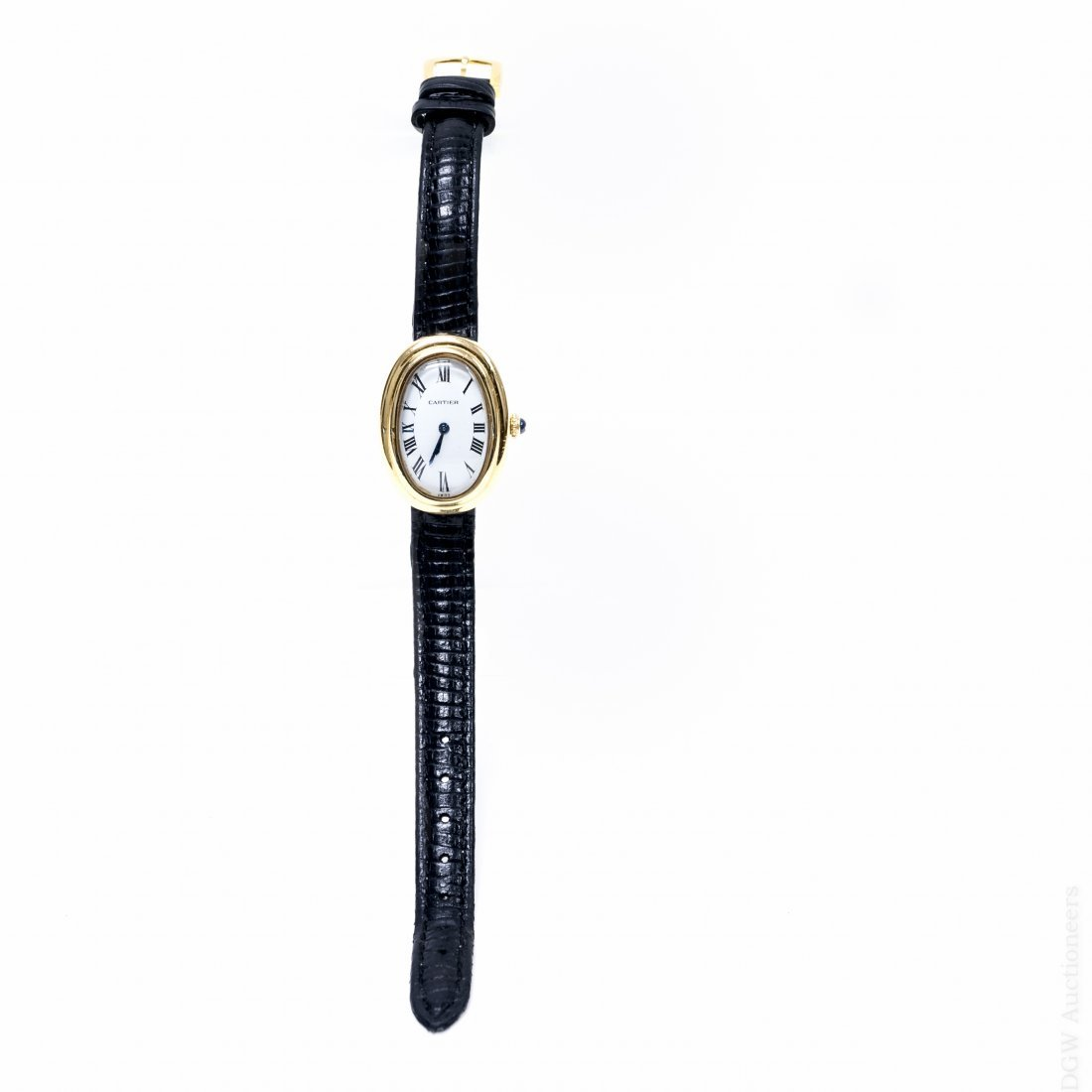 Cartier Baignoire 18K Yellow Gold Watch.