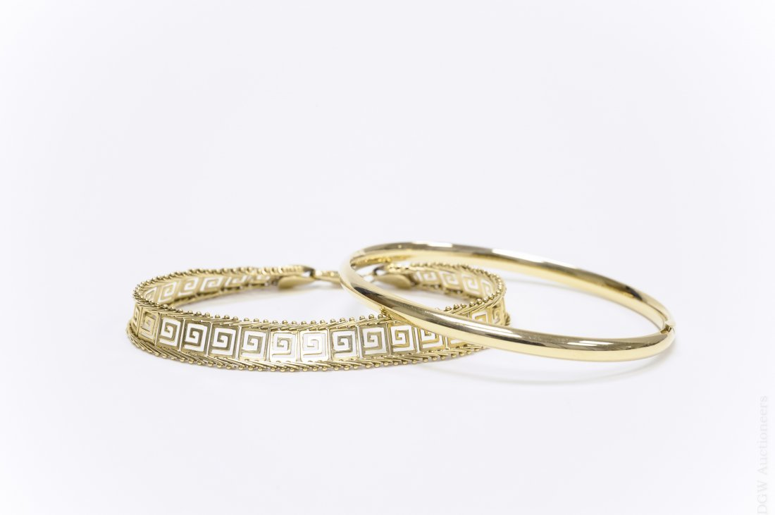 (2) 14K Yellow Gold Bracelets.