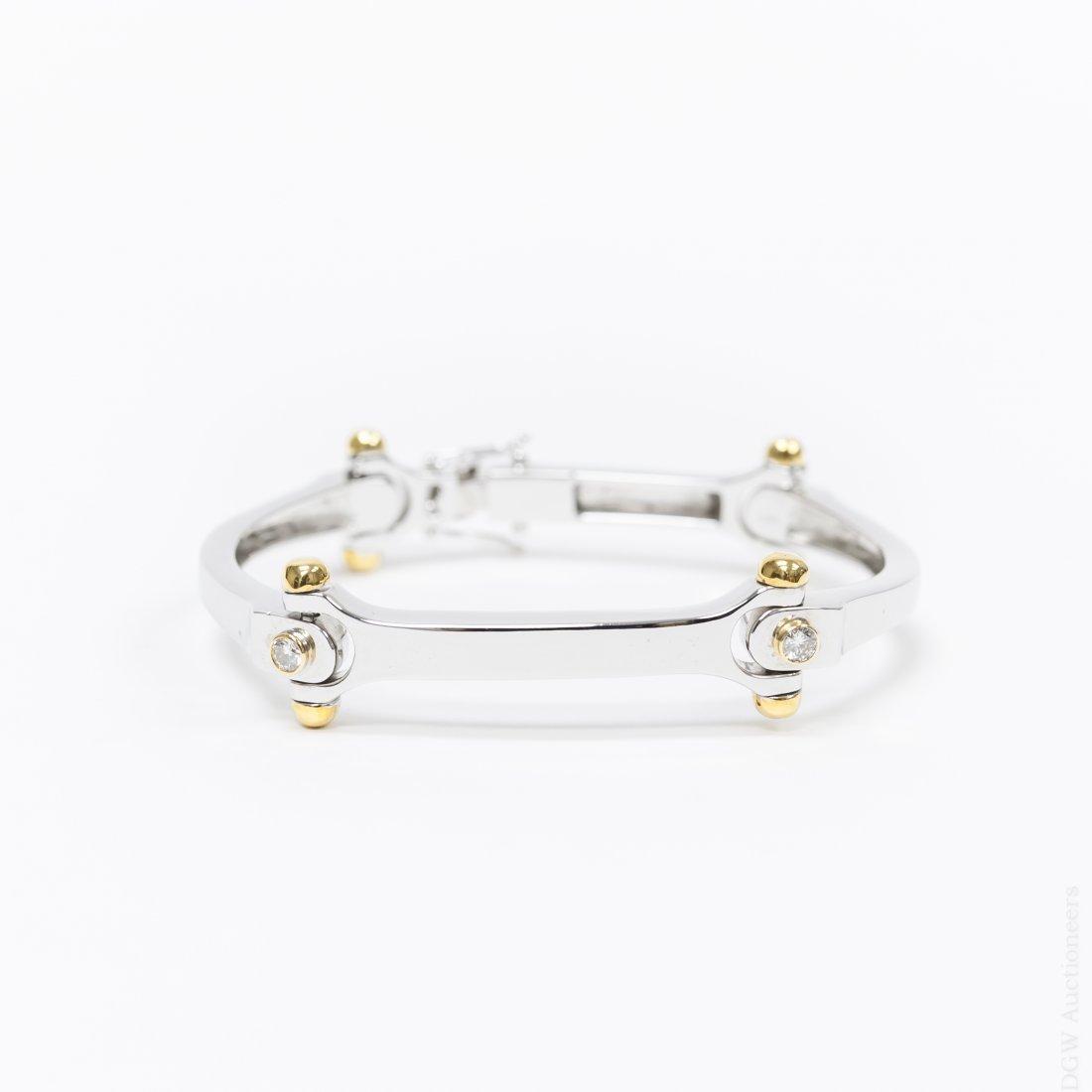 18K White & Yellow Gold Custom Bracelet.