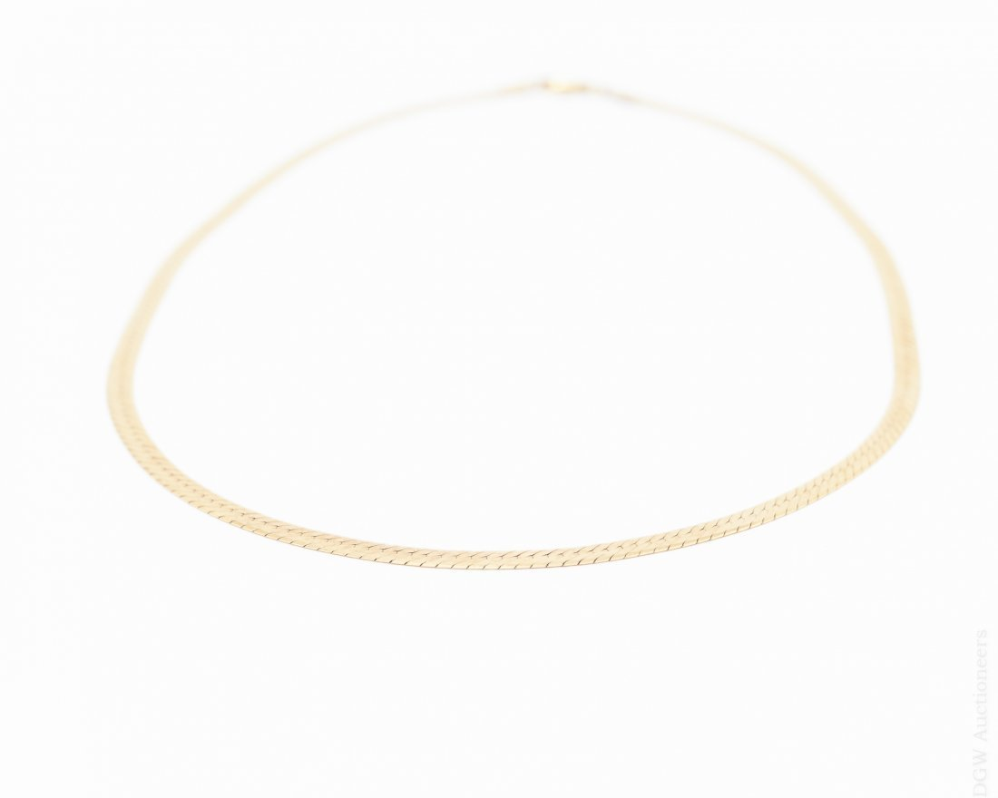 18K Yellow Gold Necklace.