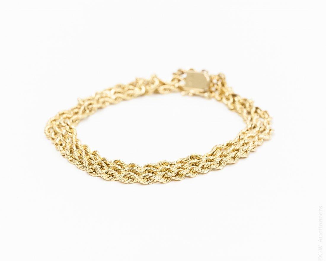 14K Yellow Gold 3-strand Bracelet.