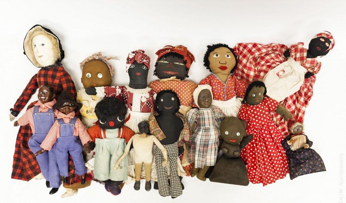 (15) Vintage Folk Art Dolls.