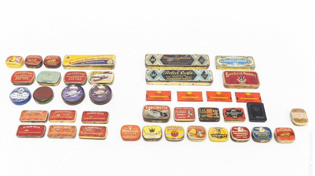 (40) Vintage Gramophone Needle Tins.