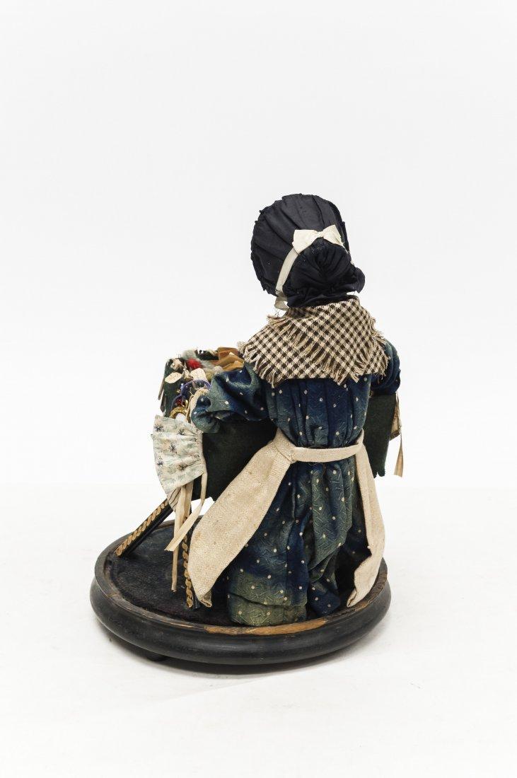 "Vintage Folk Art ""Vendor"" Doll. - 3"
